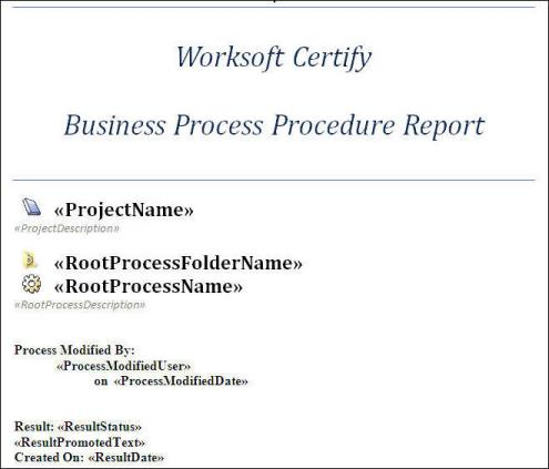 Creating Certify BPP Report Templates