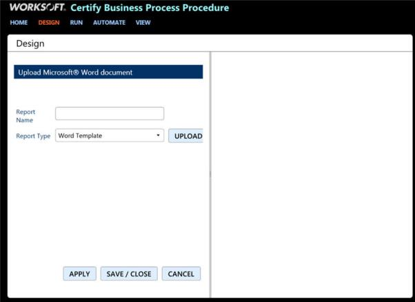 Creating certify bpp report templates the upload microsoft word document screen appears accmission Gallery