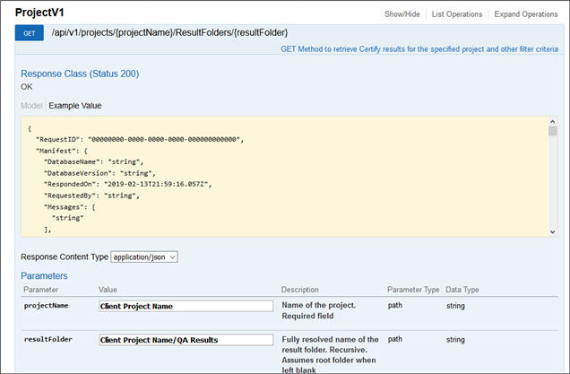 Create a Results Query in Certify Results API Swagger